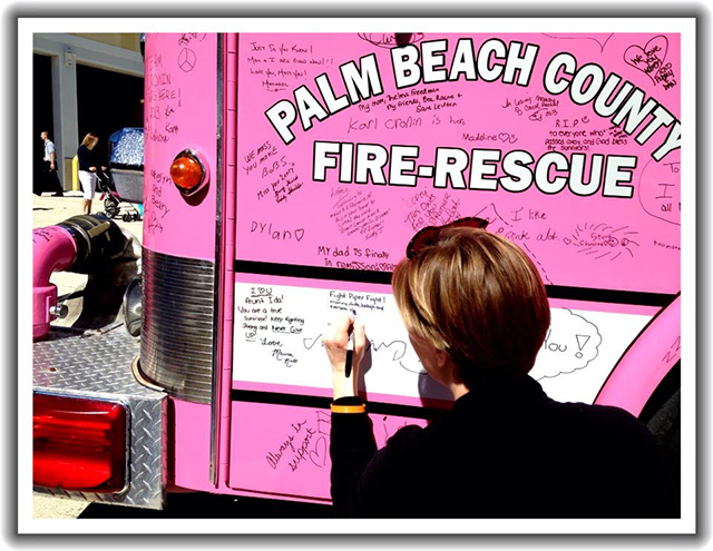 Pink Pumper for cancer awarness