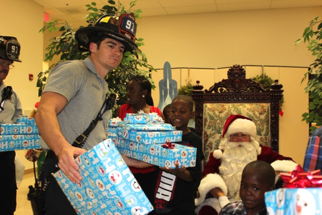 Delivering gifts to those in need